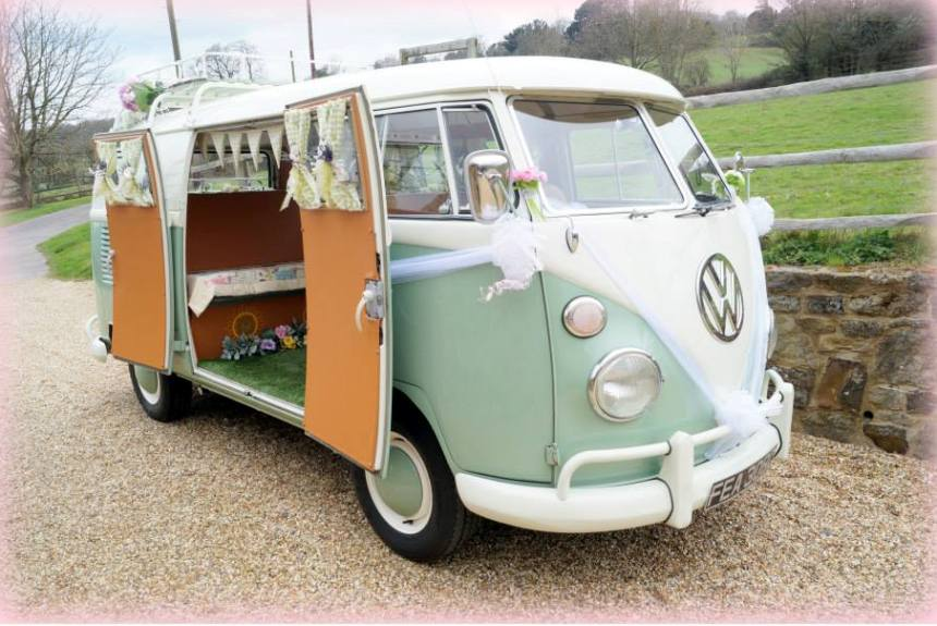 VW Campervan Wedding Car If